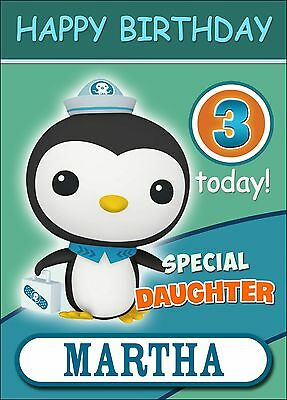 Octonauts Kwazii Personalised Birthday Card ANY NAME AGE RELATIVE!