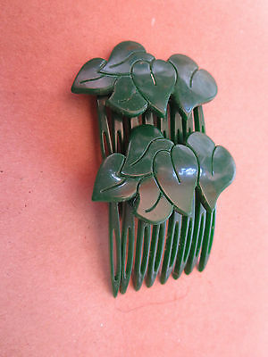 HAIR ACCESSORY Pair of Hair Combs Vintage  Hand Made in France