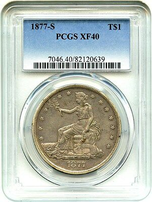 1877-S Trade$ PCGS XF40 - Great Type Coin - US Trade Dollar - Great Type Coin
