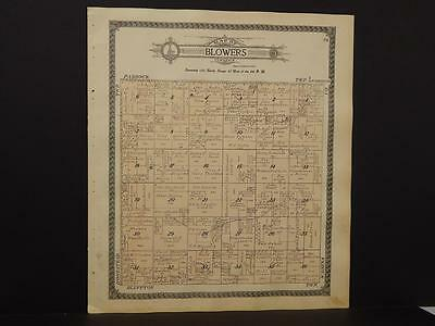 Minnesota Otter Tail County Map Blowers Homestead  Township 1912 Dbl Sd  K12#71