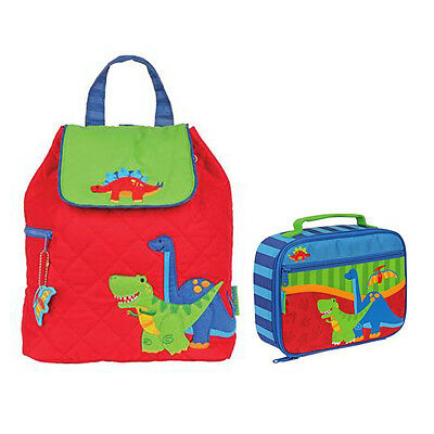 Stephen Joseph Lunch Box & Quilted Backpack Dino Unisex Kids Lunch Box & Backpa