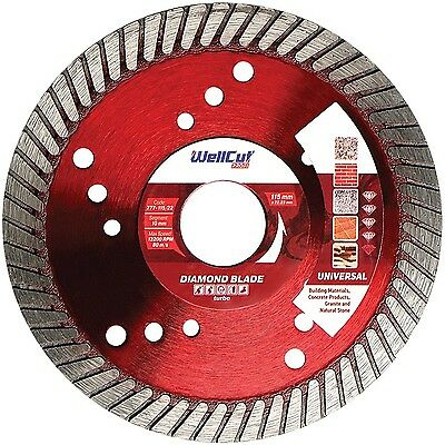 WELLCUT PROFI Diamond Disc 125 mm for Angle Grinder, PROFESSIONAL Hig...