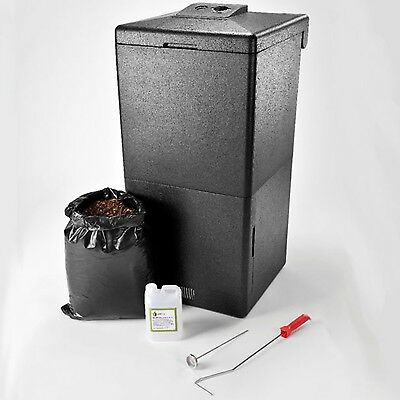 Hot Bin Garden Composter Recycle ALL Food Waste Quickly 200L No Odour Flies Rats