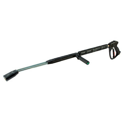 """Stainless Steel High Flow Pressure Washer Gun & Twin Lance With Handle 3/8""""bspp"""