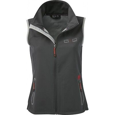 Equi-Theme R & D Childs Softshell Gilet Fitted Waistcoat Dark Grey 97806611