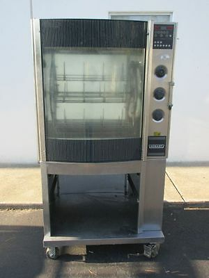 Hobart Hr7 Commercial Rotisserie Oven With Bottom Storage Cabinet On Casters