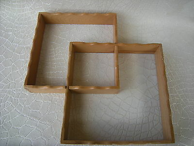 1950s  Mid Century Wood Wall Display Shadow Box