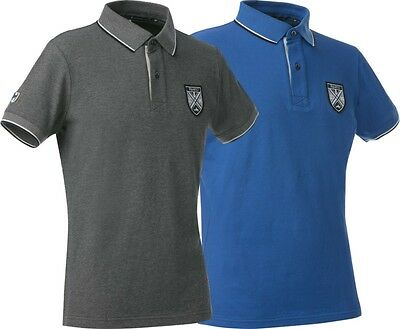 Equi-Theme EQUIT'M Childs Fine Pique Polo Shirt Royal Blue Or Grey 962703