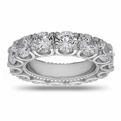 Wedding Band 925 Sterling Silver Round Cut Cubic Zirconia Eternity Band Ring