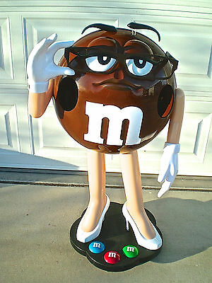 (3) M & M Store Displays Ms Brown Candy Character BRAND NEW
