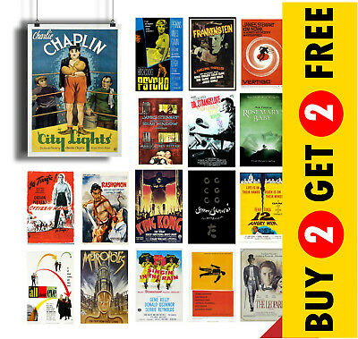 CLASSIC CULT MOVIES Poster Options A4 A3 Size Film Wall Art Print Christmas Gift
