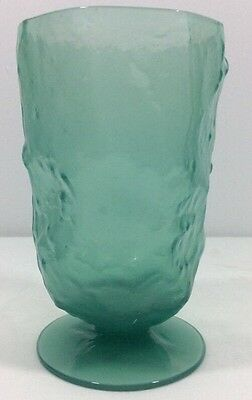 El Mexicano Ice Tea Footed Tumbler Seaweed Morgantown 1933 Crinkle Jade 12 Ounce