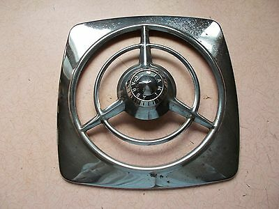 VGT 1950s MIAMI CAREY CHROME EXHAUST FAN COVER GUARD ONLY RETRO DECOR STEAMPUNK