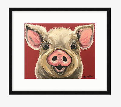 Pig art Print, pig art from original painting 11x14, signed by artist