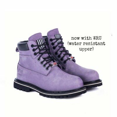 she wear she can Water Resistant Safety Work Boots Imperial Purple Women Ladies
