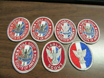 Eagle Scout Award Patches, 7 Different Varieties     cjp x1