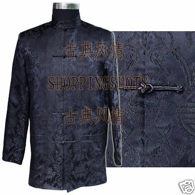 chinese coat clothing clothes for men jacket 083208 black custom made service