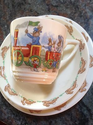 Bunnykins trio (cup Saucer & Plate)..Made In England ..new