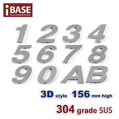 3D House Number Letter Mail Box Numbers Letters 304 Stainless Steel 156 Mm