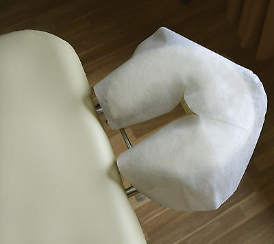 DISPOSABLE HYPO-ALLERGENIC  MASSAGE TABLE FACE CRADLE COVERS, Pack of 25