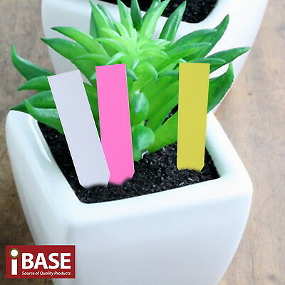 Plant Marker Garden Labels Flexible Plastic Tags Nursey Seedlings Herbs 10x2 cm