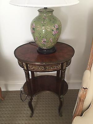 French Antique Bedside / Side / Lamp Tables 1930s Louis XV style Ormolu Brass
