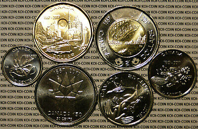 BU UNC Canada 1867-2017 150th commemorate 6 coin set $2 $1 50c 25c 10c 5c