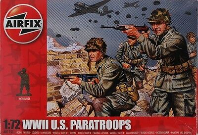 Airfix 1:72 WW2 U.S. Paratroops Model Figures Toy Army Soldiers AO1751 48 Pieces