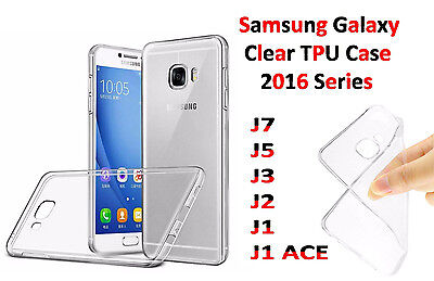 Silicone Crystal Clear TPU Case Cover For Samsung Galaxy J7 J5 J3 J2 J1 Ace 2016