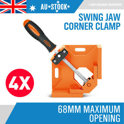4x Die Cast Corner Clamp Welding Right Angle Framing Vice Wood Metal 90 Degree