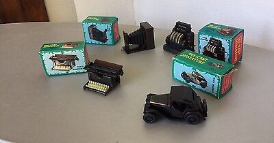 VINTAGE#4x Pencil sharpener antique finished Die-Cast Miniature temperino