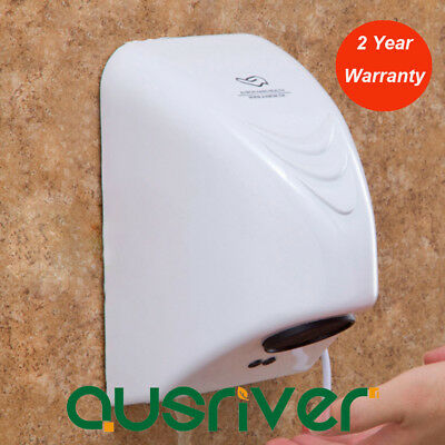 1000W Powerful Wall Mounted Automatic Hand Dryer Commercial Grade Washroom White