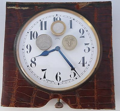Very large Antique 8 Day Goliath watch / travel clock In Working Order
