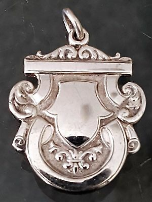 Antique Sterling Silver Large Watch Fob Medal Birmingham 1924