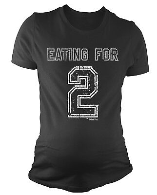 Ladies MATERNITY T-Shirt Eating For 2 Funny Womens PREGNANCY Baby Gift