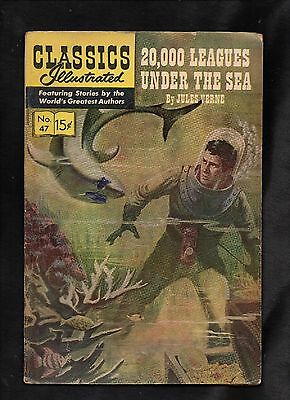 Classics Illustrated #47 G  Hrn156  (20,000 Leagues Under The Sea) Jules Verne