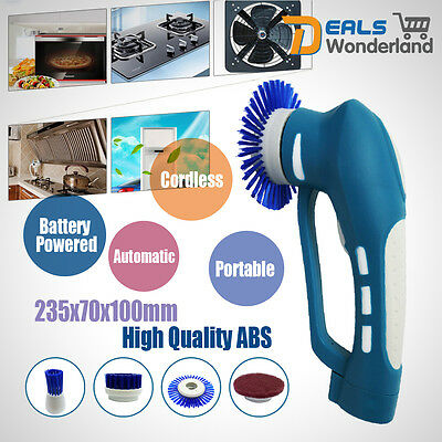 Automatic Household  Battery Powered Scrubber Cordless for Bathroom and Kitchen