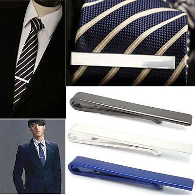 Men Stainless Steel Tone Simple Necktie Tie Bar Clasp Clip Clamp Pin Gift 4CM BJ