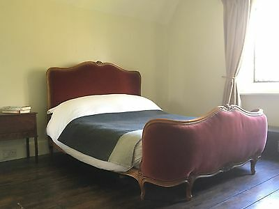 Antique French Corbielle Upholstered Double Bed