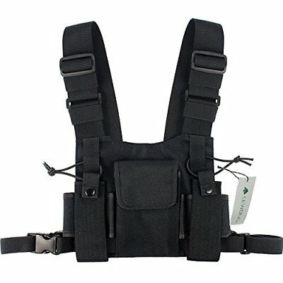Lewong Radio Carry Case Chest Pocket Universal Bag Holster for Two Way Radio