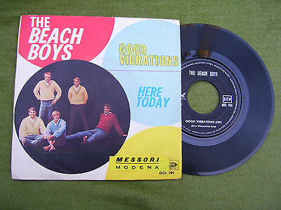 """THE BEACH BOYS """" Good vibrations / Here today """" Capitol 1966"""