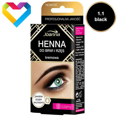 JOANNA - HENNA Tint Cream For Eyebrows & Eyelashes  - 1.0 BLACK