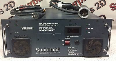 Soundcraft Console Power Supply, CPS 2000  120VAC In MH4