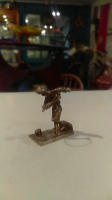 Solid Silver place card menu holder Victorian boy with Spinning top Jarvis 1979