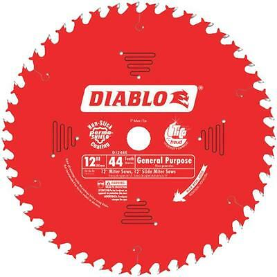 "Diablo Freud 12"" 44 Tooth General Purpose Miter Saw Carbide Blade D1244X"