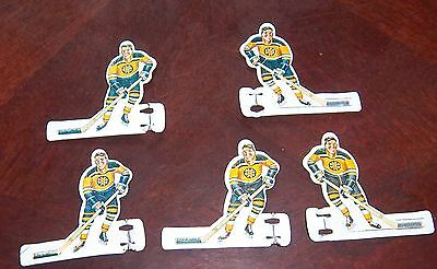 Coleco  / Eagle Boston Bruins 5 tin players1968-1972  table top hockey A