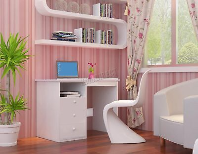 FoxHunter Tiltable Kids Study Desk Computer Writing Drawing Table KSD01 White