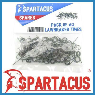 Spartacus 60 x Lawn Raker Tines Tynes For Performance Power PWR400LRA Scarifier