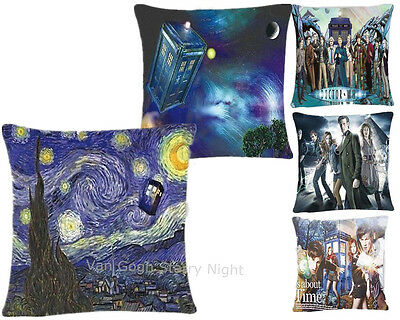 NEW Doctor Who Square Cushion Pillow Case DW Pillowcases Cover For Home Decor