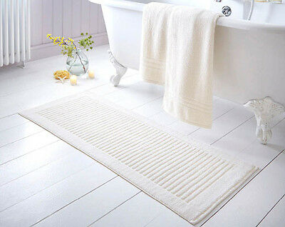 mat bath Extra Long 100 cotton washable bathroom mats soft 3 colours luxury new